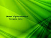 Abstract/Textures: Green Satin PowerPoint Template #07783