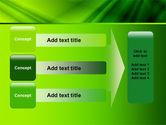 Green Satin PowerPoint Template#12