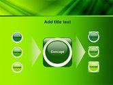 Green Satin PowerPoint Template#17