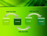 Green Satin PowerPoint Template#4