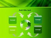 Green Satin PowerPoint Template#6