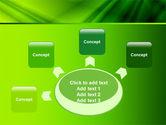 Green Satin PowerPoint Template#7