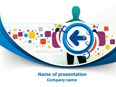 Business: Press Play PowerPoint Template #07784