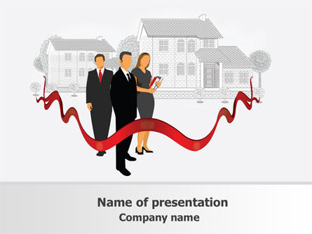Realtors PowerPoint Template, 07785, Careers/Industry — PoweredTemplate.com