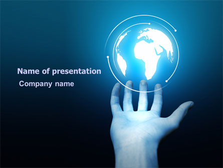 Glowing Globe Free PowerPoint Template, 07786, Global — PoweredTemplate.com