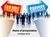 Education & Training: Failure and Success PowerPoint Template #07789
