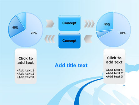 Blue Cloud Abstract PowerPoint Template Slide 11