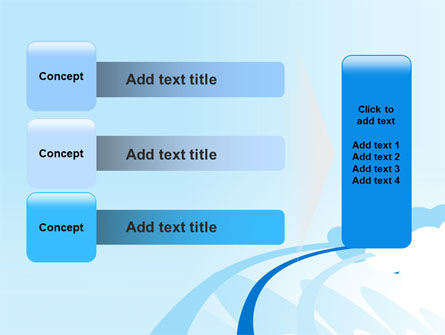 Blue Cloud Abstract PowerPoint Template Slide 12