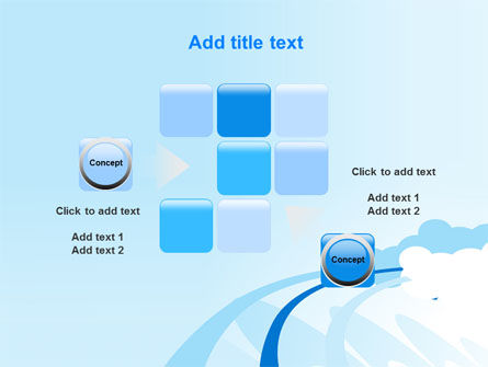 Blue Cloud Abstract PowerPoint Template Slide 16