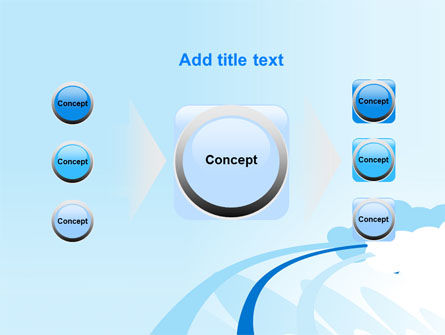 Blue Cloud Abstract PowerPoint Template Slide 17