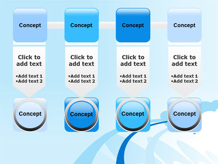 Blue Cloud Abstract PowerPoint Template Slide 18