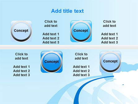 Blue Cloud Abstract PowerPoint Template Slide 19
