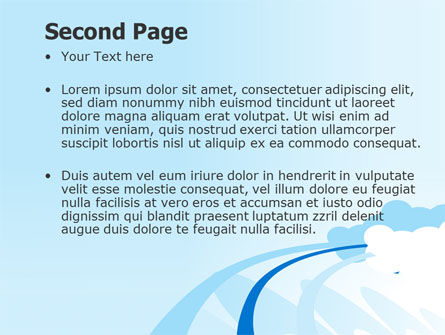 Blue Cloud Abstract PowerPoint Template Slide 2