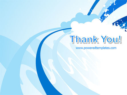 Blue Cloud Abstract PowerPoint Template Slide 20