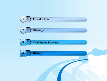 Blue Cloud Abstract PowerPoint Template Slide 3