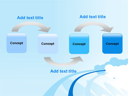 Blue Cloud Abstract PowerPoint Template Slide 4
