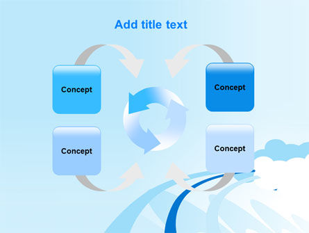 Blue Cloud Abstract PowerPoint Template Slide 6