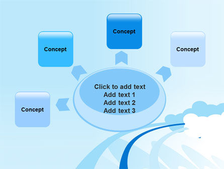 Blue Cloud Abstract PowerPoint Template Slide 7