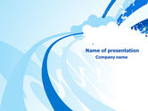 Abstract/Textures: Blue Cloud Abstract PowerPoint Template #07790