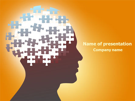 Puzzle Brain PowerPoint Template, 07791, Education & Training — PoweredTemplate.com
