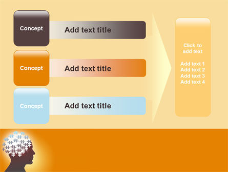 Puzzle Brain PowerPoint Template Slide 12