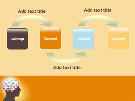 Puzzle Brain PowerPoint Template Slide 4