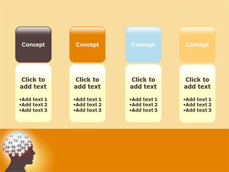 Puzzle Brain PowerPoint Template Slide 5