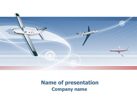 Air Transport PowerPoint Template, 07793, Cars and Transportation — PoweredTemplate.com