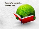 Education & Training: Modelo do PowerPoint - mundo da leitura #07794