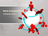 Careers/Industry: Peoples Network PowerPoint Template #07795