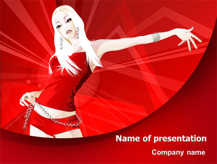 Careers/Industry: Girl in Red Free PowerPoint Template #07798