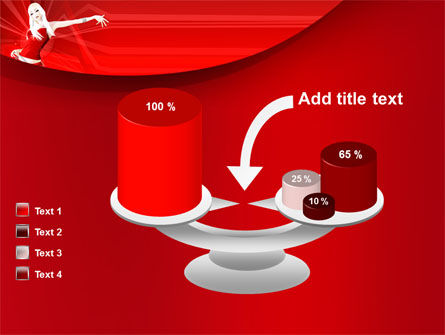 Free Girl in Red PowerPoint Template Slide 10