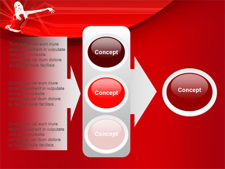 Free Girl in Red PowerPoint Template Slide 11