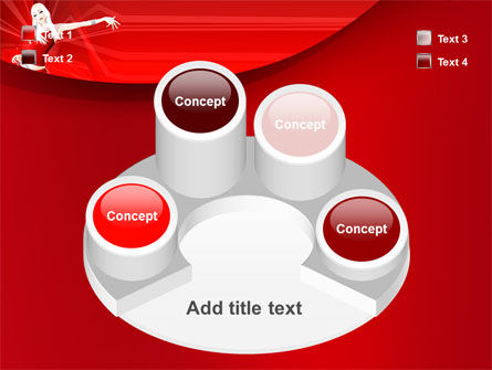 Free Girl in Red PowerPoint Template Slide 12