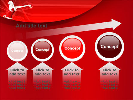 Free Girl in Red PowerPoint Template Slide 13