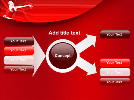 Girl in Red Free PowerPoint Template Slide 14