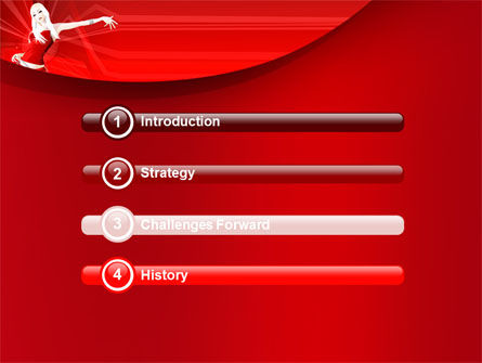 Free Girl in Red PowerPoint Template Slide 3
