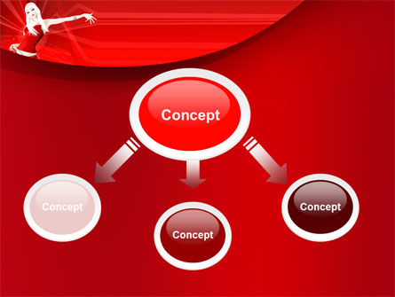 Girl in Red Free PowerPoint Template Slide 4