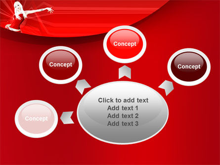 Girl in Red Free PowerPoint Template Slide 7