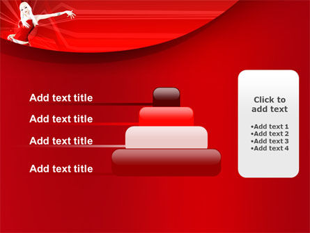 Free Girl in Red PowerPoint Template Slide 8