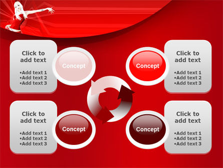 Free Girl in Red PowerPoint Template Slide 9