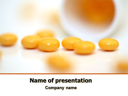Yellow Pills PowerPoint Template, 07799, Medical — PoweredTemplate.com