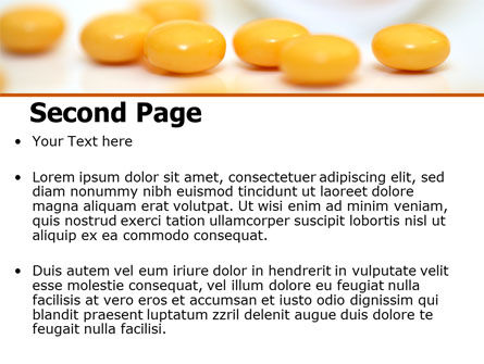 Yellow Pills PowerPoint Template, Slide 2, 07799, Medical — PoweredTemplate.com