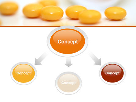 Yellow Pills PowerPoint Template, Slide 4, 07799, Medical — PoweredTemplate.com