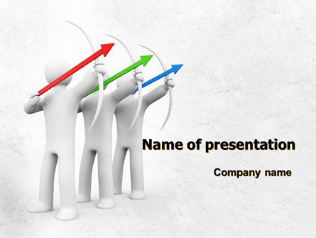Archers PowerPoint Template, 07800, Business Concepts — PoweredTemplate.com