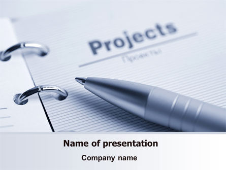 Business Concepts: Project Description PowerPoint Template #07802