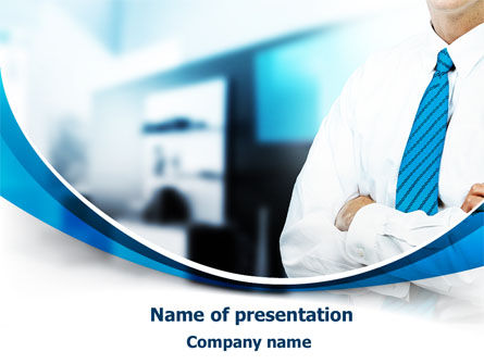 Blue Tie PowerPoint Template, 07806, Business — PoweredTemplate.com