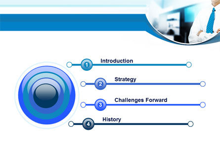 Blue Tie PowerPoint Template Slide 3