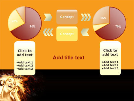Flame Girl PowerPoint Template Slide 11