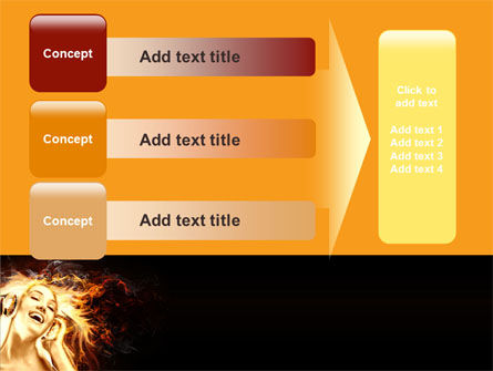 Flame Girl PowerPoint Template Slide 12